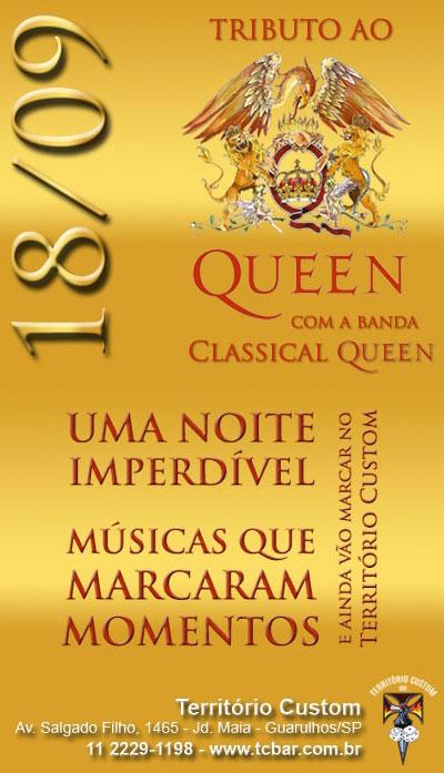 Show Classical Queen 18 de Setembro em Guarulhos