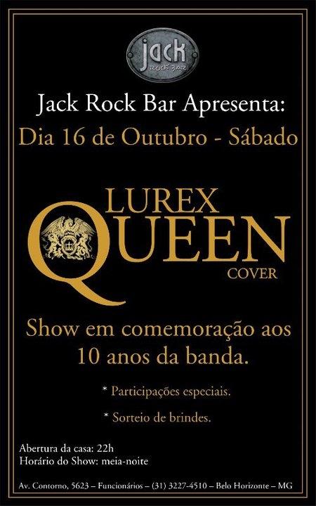 Show em comemoração dos 10 anos da banda LUREX